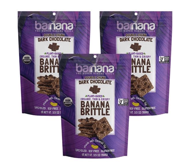 DARK CHOCOLATE BANANA BRITTLE