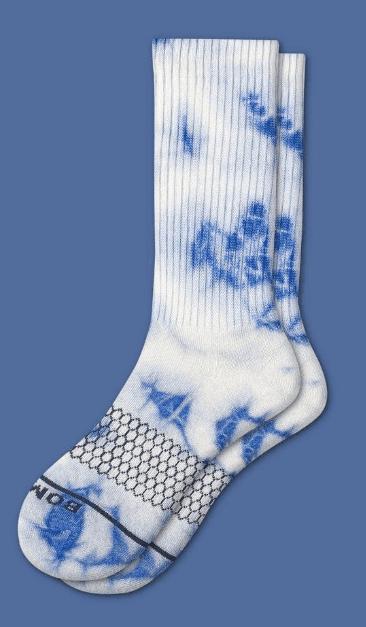 Women's Merino Tie Dye Calf Socks