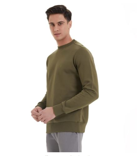 Essentials Organic Cotton Sweat In Dark Olive
