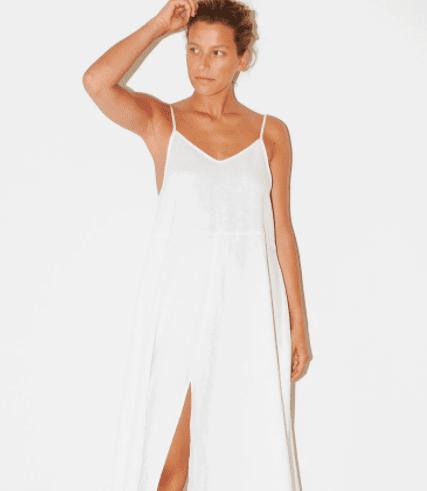 White Linen Slip Dress