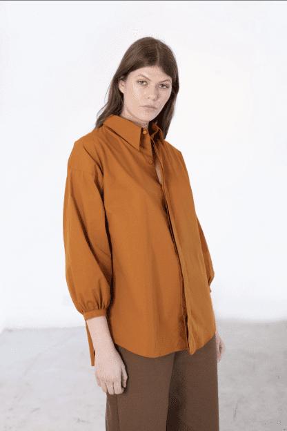 Foundry Shirt   rust – Recreate clothing