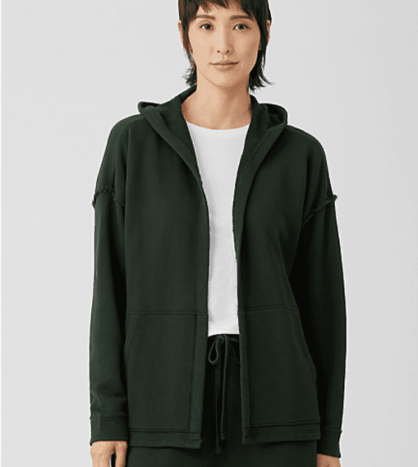 Organic Cotton French Terry Hooded Jacket (Ivy)