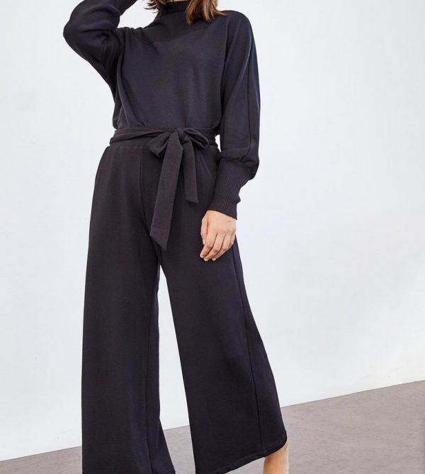 Coco Luxe Fleece Pants (Black)