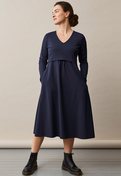 Charlotte dress – Midnight blue – M