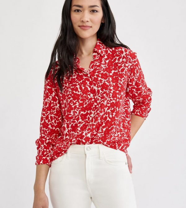 Bixby Silk Blouse (Lille Floral)