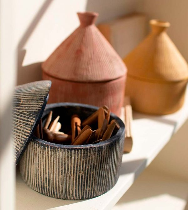 Textured Clay Storage Containers