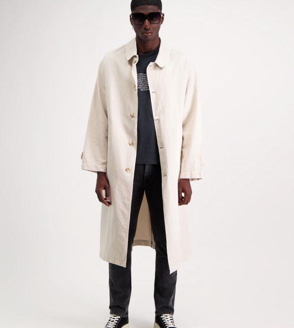 Loose-fitting Beige Coat