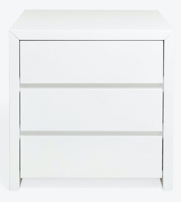 Fresco 3 Drawer Lacquer Nightstand