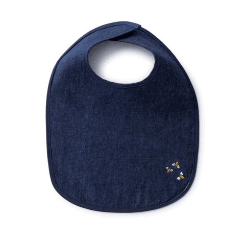 Hemp Denim Baby Bib – Organic Kids Products, Safe & Tested