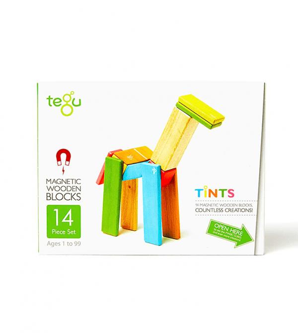 14-Piece Set Magnetic Wooden Blocks Tegu Classics at Tegu Toys