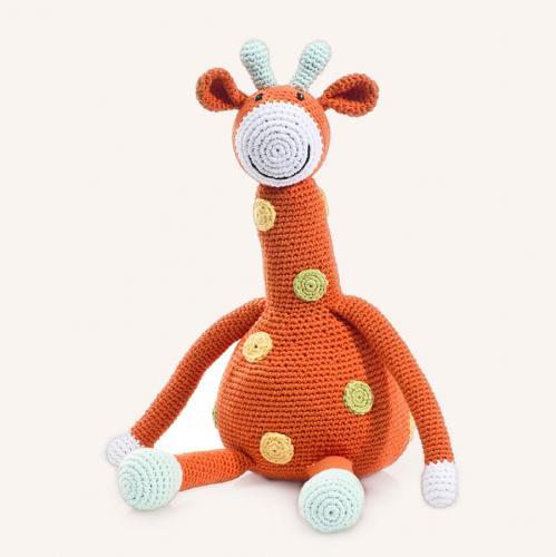 Large Giraffe Knit Toy