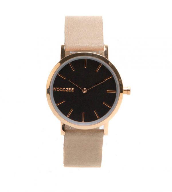 Woodzee Victoria Black Sandal Wood Watch