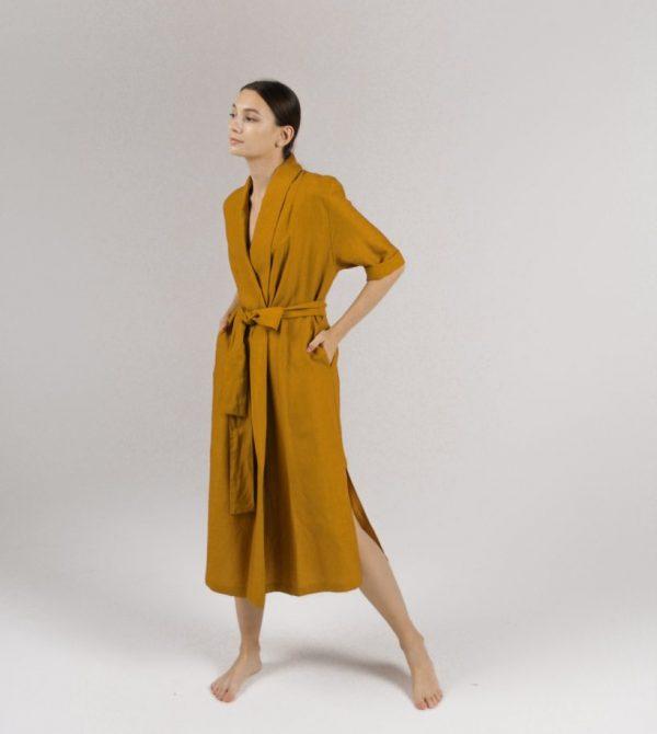 Convertible Wrap Dress (Mustard)