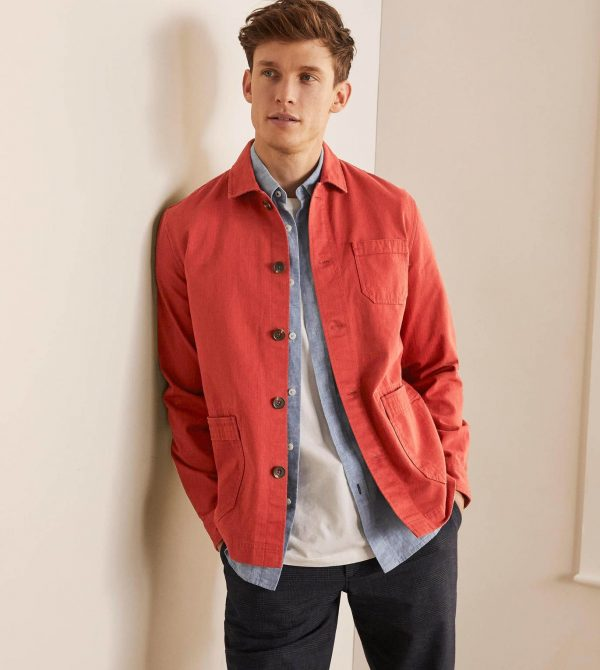Kentmere Overshirt – Washed Red | Boden US