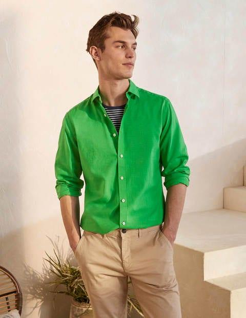 Linen Cotton Shirt – Bright Green
