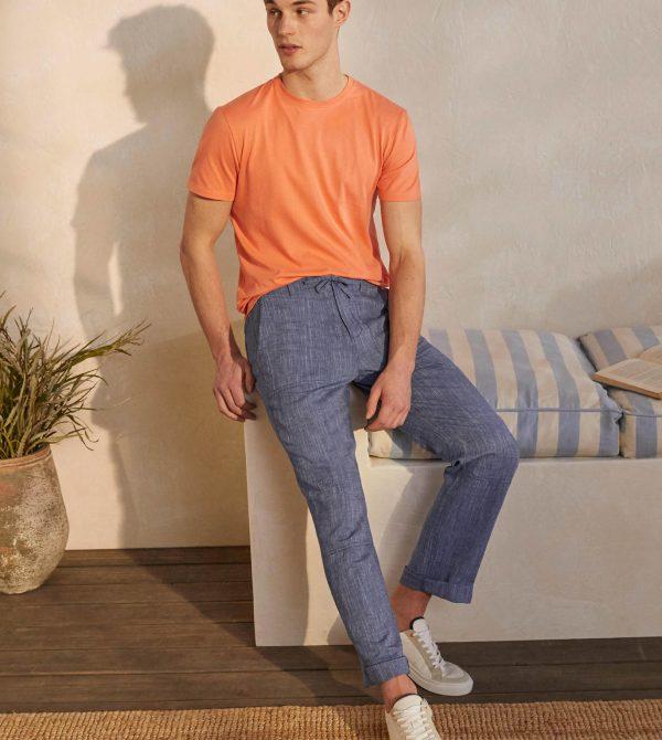 Relaxed Linen Blend Pants- Bodenusa