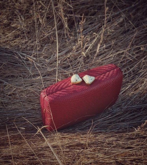 Straw Clutch Bag | Kayu