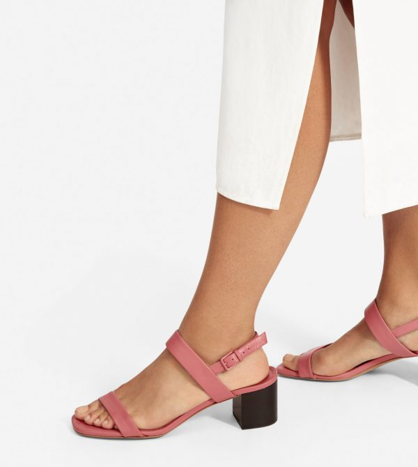 The Double-Strap Block Heel Sandal