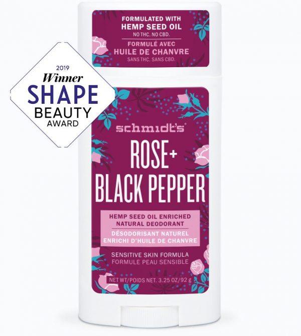 Rose + Black Pepper Sensitive Skin Deodorant Stick