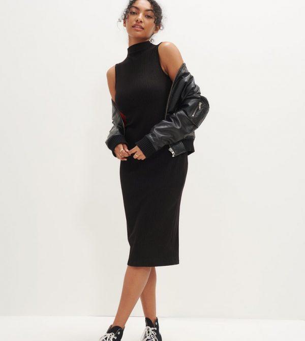 Lux Sleeveless Dress (Black)