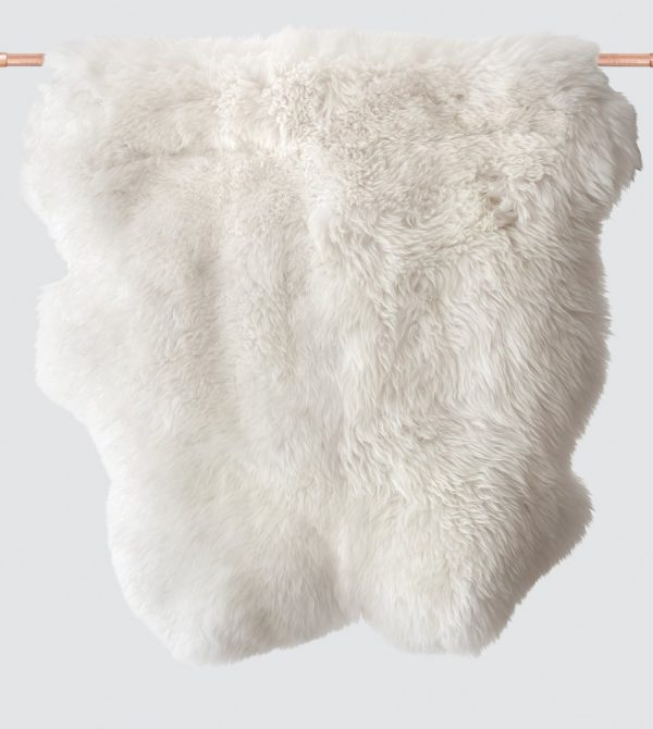 Sheepskin Accent Rug – White – The Citizenry