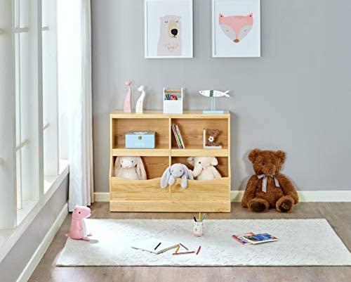 Wooden 4 Cabinet Open Toy Storage