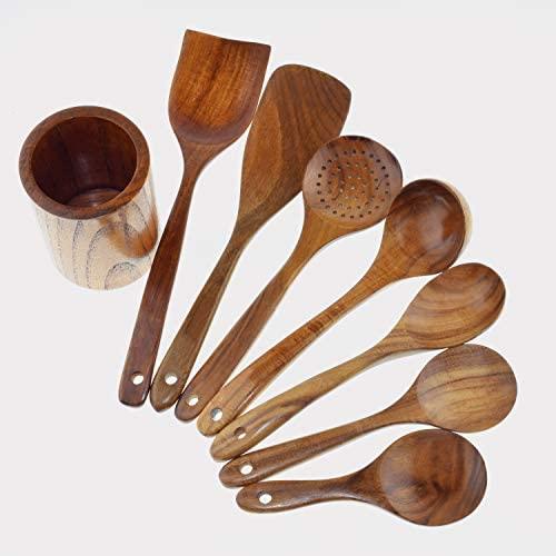 Natural Teak Kitchen Cooking Utensil Wooden