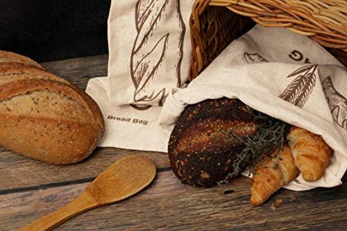 Reusable Homemade Bread Bags Storage