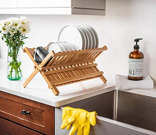Bellemain Folding Bamboo Dish Drying Rack