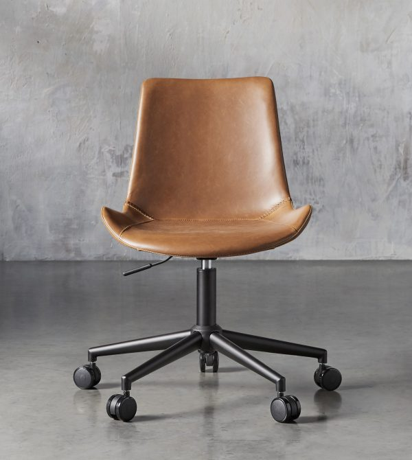 Gage Faux Leather Desk Chair | Arhaus