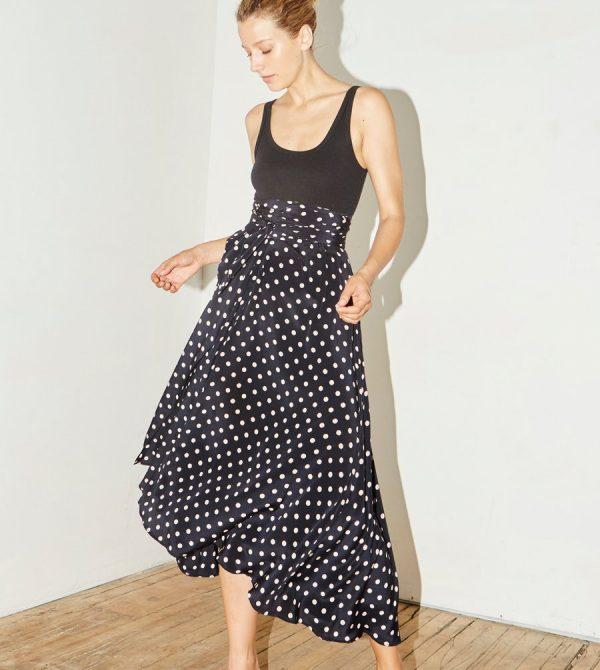 Polka Silk Alma Skirt