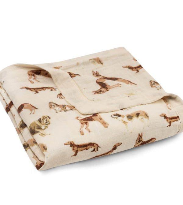 Three-Layer Muslin Blanket (Natural Dog)