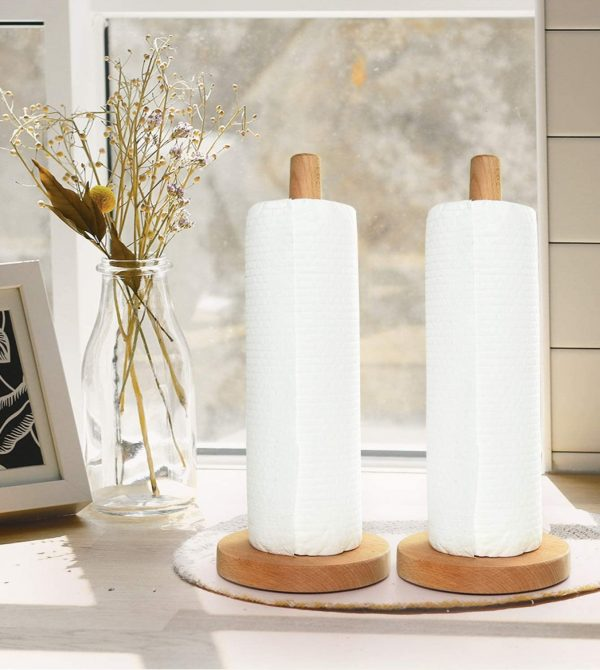 Gonioa Wooden Paper Towel Holder
