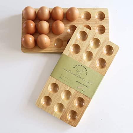 Mother Hen's 18 Eggs Wooden Egg Holder