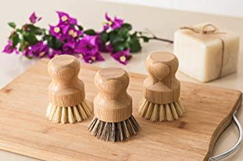 Bamboo Dish Brush with Plant Based Bristles