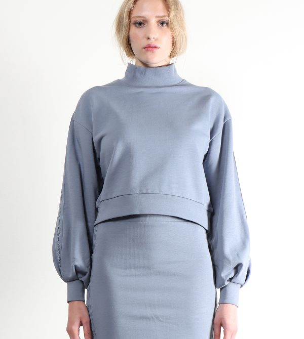 Eva Organic Cotton Sweatshirt (Slate Blue)