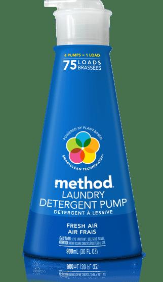 detergent pump – 75 loads | fresh air | method