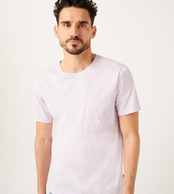 Pocket Tee In Lilac