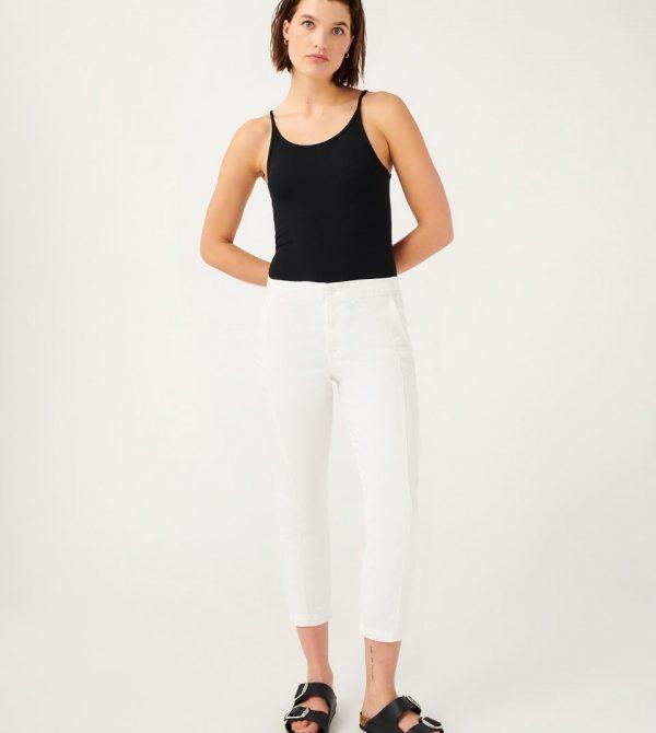 Slim Jogger in Clean White