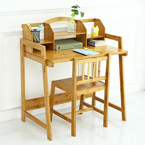 Bamboo Height Adjustable Kids Desk