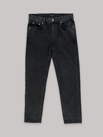 Organic Cotton Black Jeans - Ake - Black Stone - AMENDI