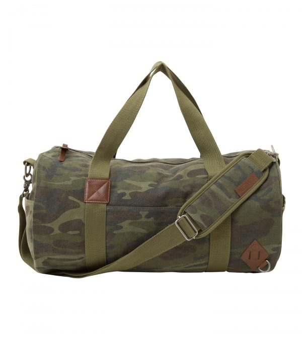 Basic Cotton Barrel Duffel Bag