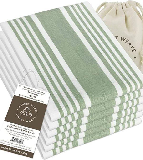 Organic Cotton Kitchen Hand Towel Set