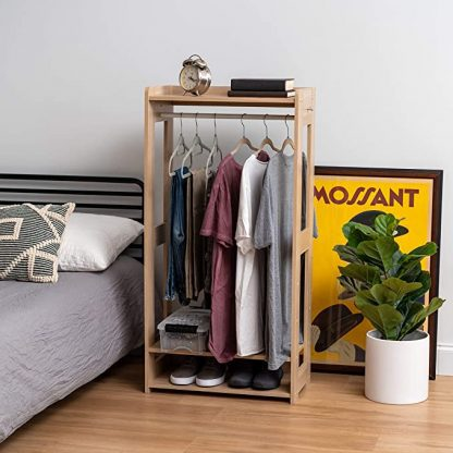Amazon.com: IRIS USA 596285 KWR-LB Clothing Garment Rack, Natural: Home & Kitchen