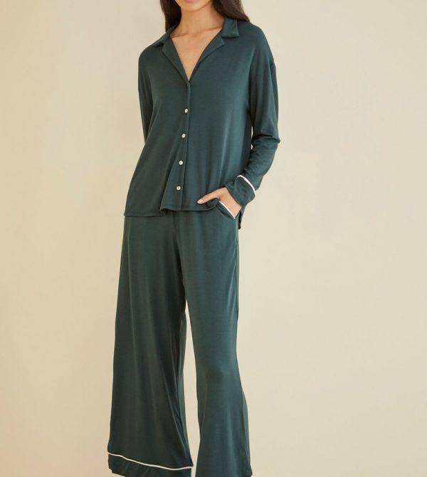 Sakura Pajama Pants (Darkest Spruce)