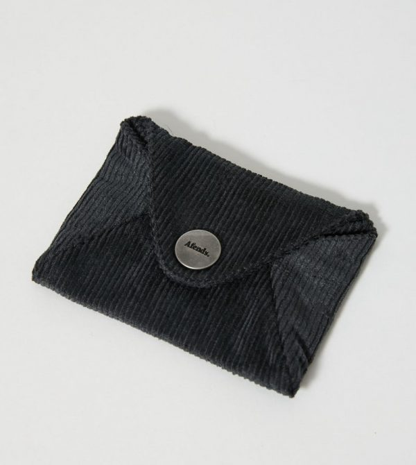 Afends Unisex Holdall – Hemp Corduroy Pouch Wallet – Raven