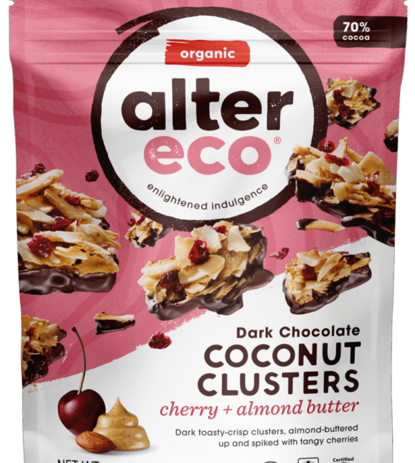 Cherry & Almond Butter Coconut Clusters