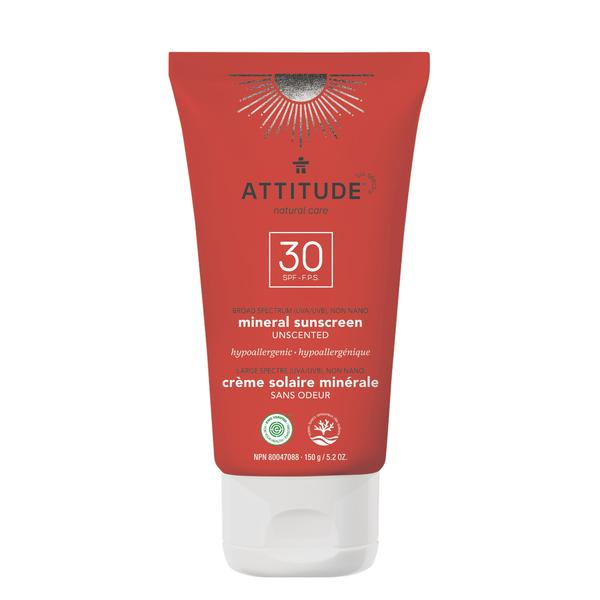 Moisturizer Mineral Sunscreen SPF 30 –  Attitude living