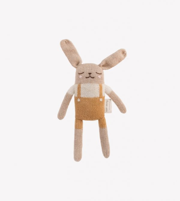 bunny knit toy | ochre – Main Sauvage