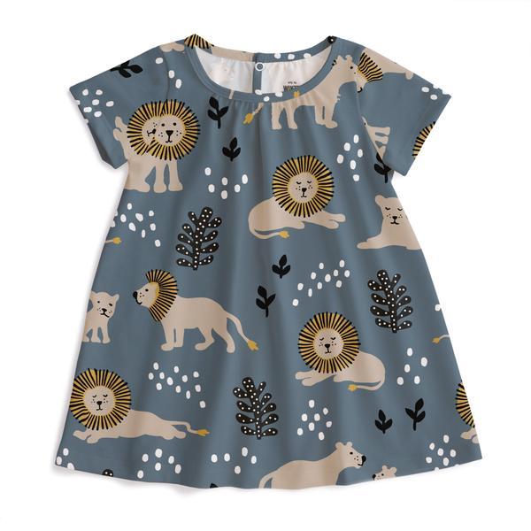 Azalea Baby Dress – Lions Slate Blue